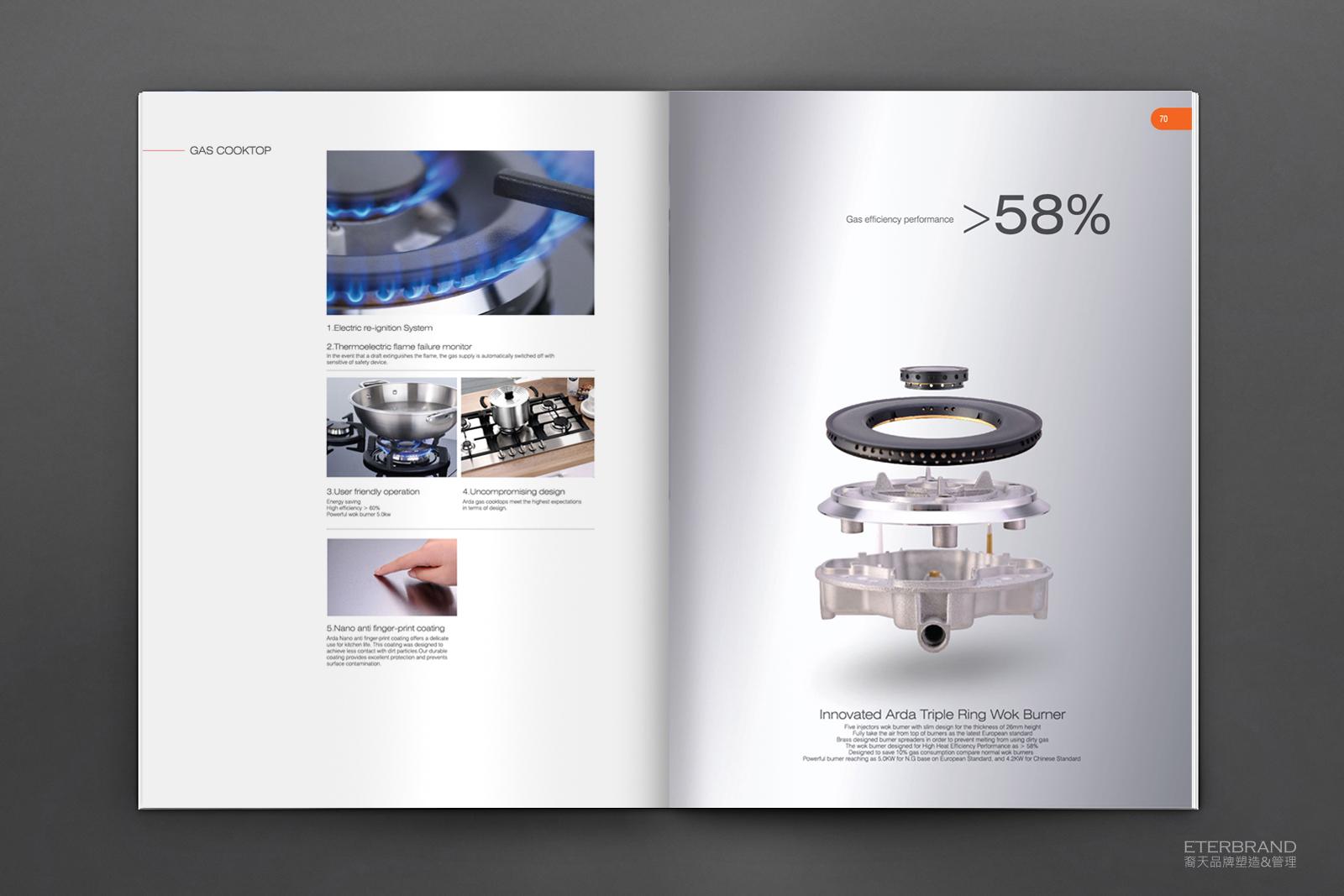 简洁风 产品画册设计作品