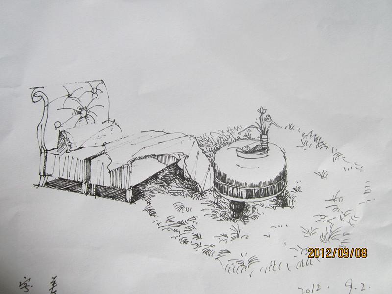 室内手绘写生_手绘|习作