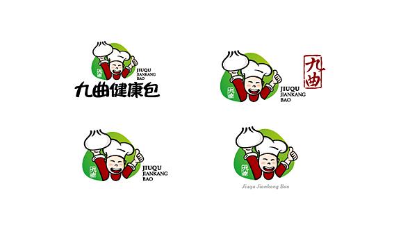 可爱素食食品标志