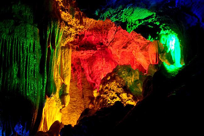 金华双龙洞风景区溶洞摄影