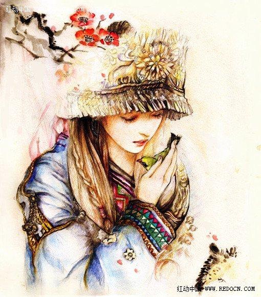 彩色手绘插画欣赏
