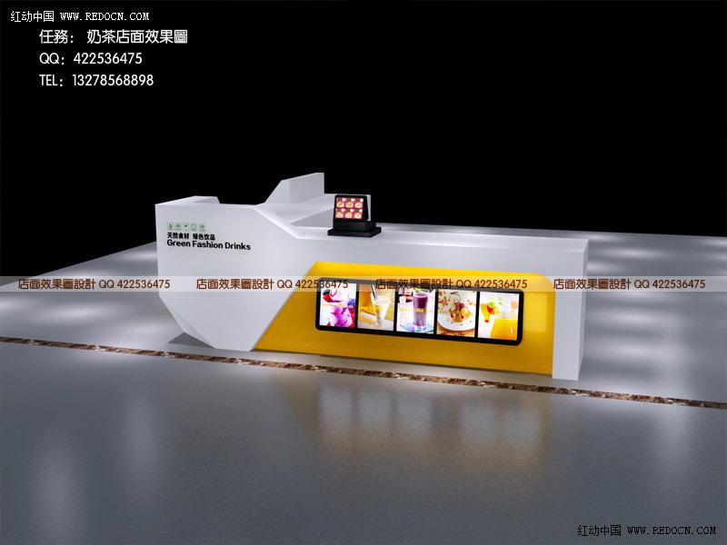 奶茶店 奶茶店设计 简约风格奶茶店 奶茶店装修效果图