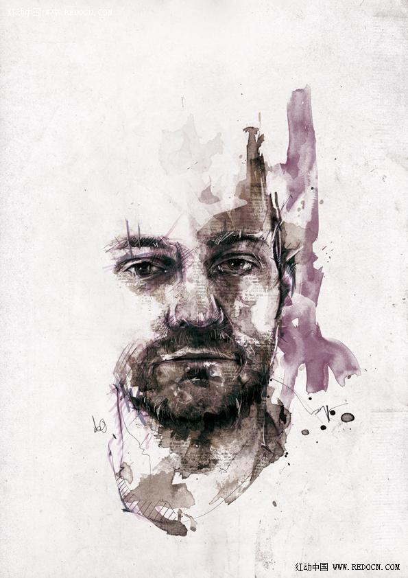 淡彩人物绘画