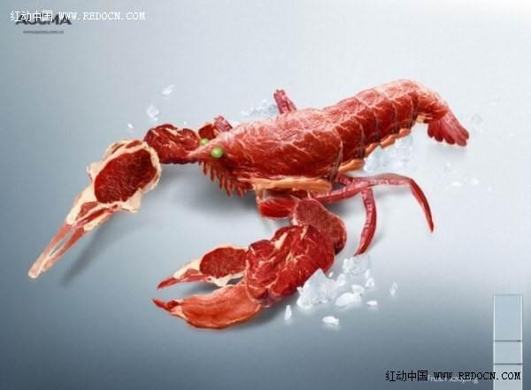 ps合成动物及场景平面设计图