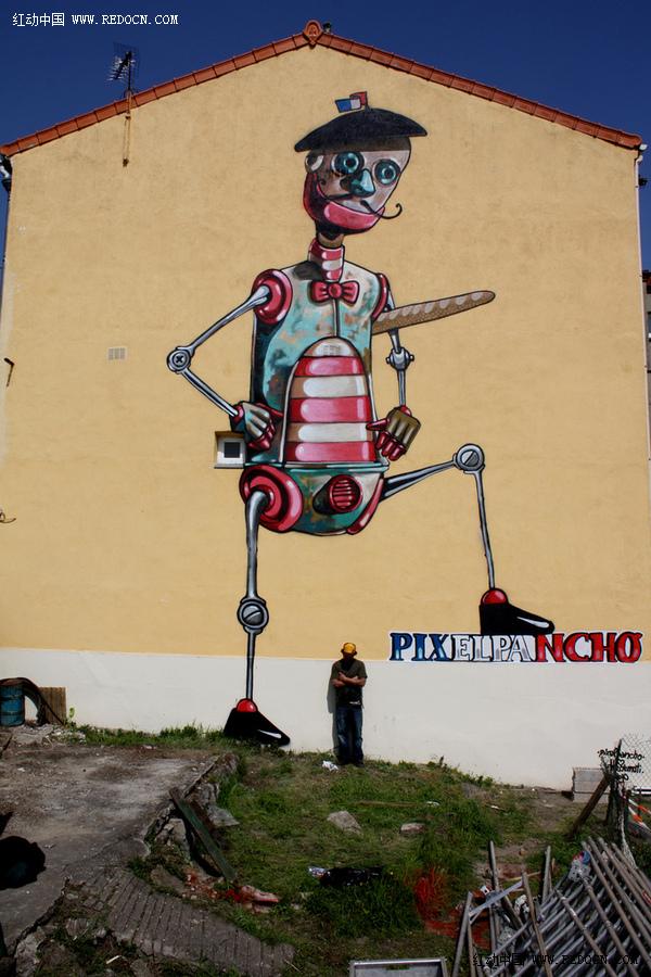 创意墙绘涂鸦图片