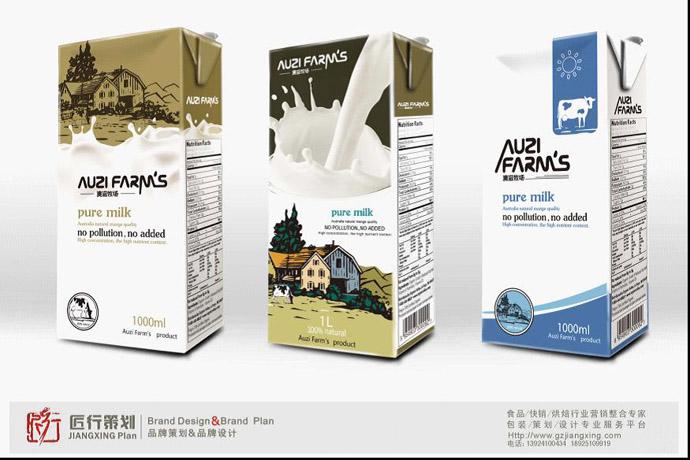 《澳滋牧场》牛奶包装设计