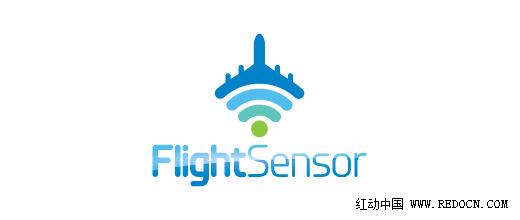 飞机元素的标志logo设计