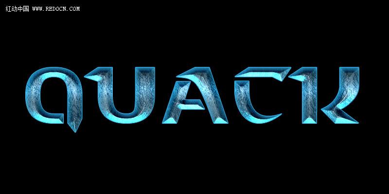 photoshop教程 字体效果 03 ps制作酷炫蓝色游戏文字  未标题-1.
