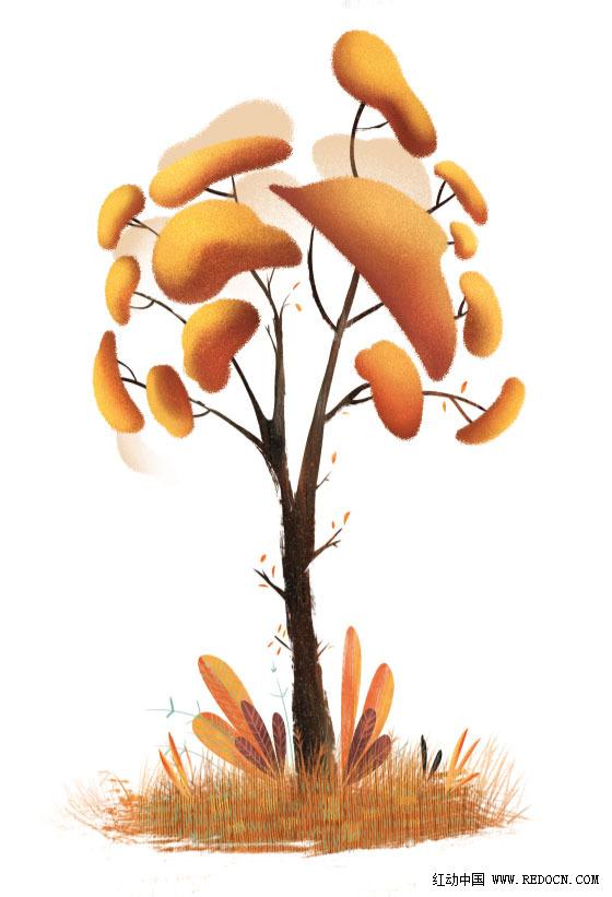 一组很有创意的植物图形设计_手绘|习作_插画_佳作 第