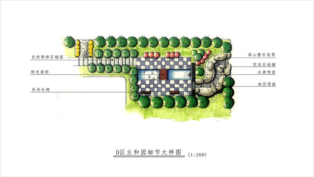 建筑总平面图手绘,建筑总平面图图例符号