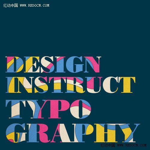 ps制作复古艺术彩色文字 字体效果 Photoshop教程