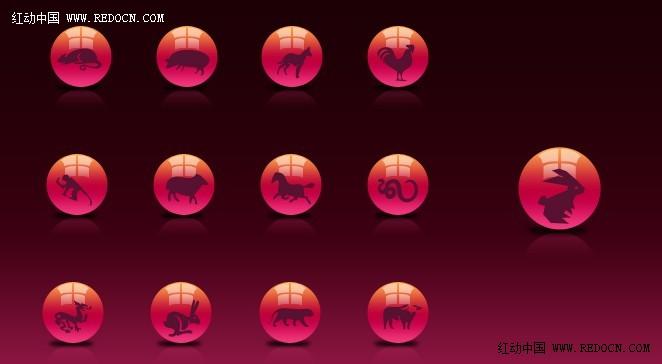 这次的photoshop手绘教程是学习用ps制作可爱的生肖按钮,主要用到
