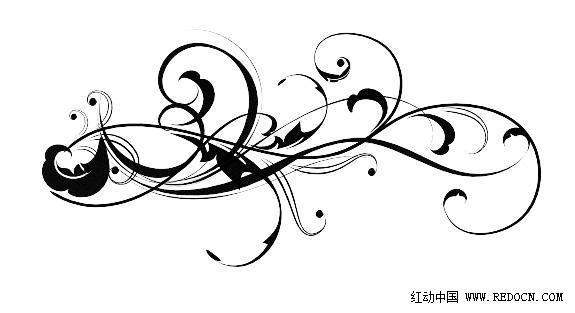 使用下载来的漂亮的花纹笔刷