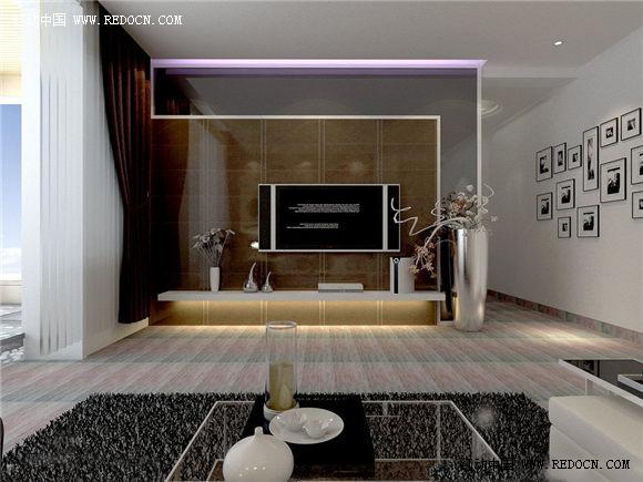 现代电视机客厅设计效果图欣赏图片信息::室内设计设计素