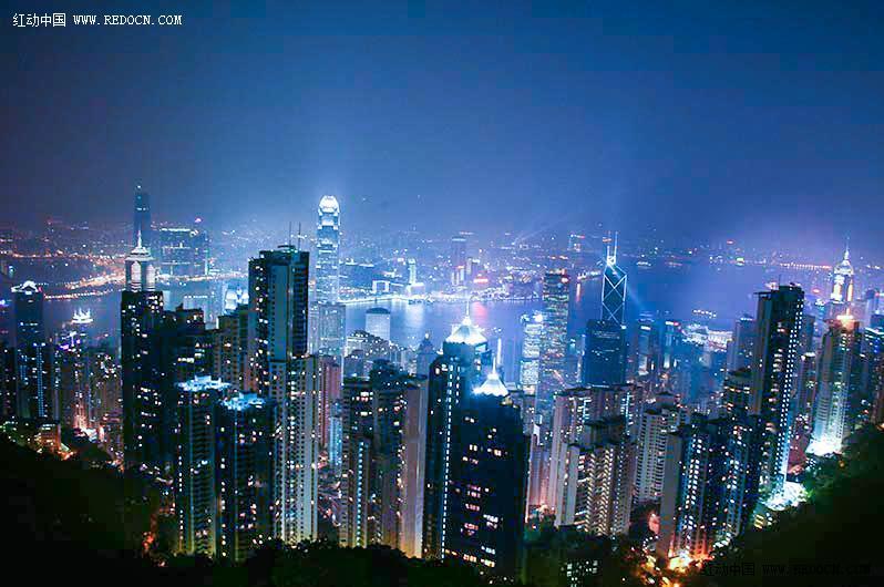 璀璨的香港维港夜景