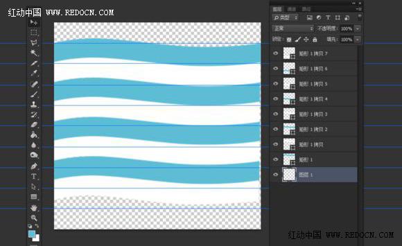 ps绘制简洁蓝白条纹图标