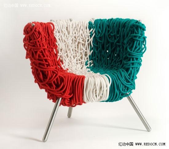 italian pride 创意绳子手工编制椅子