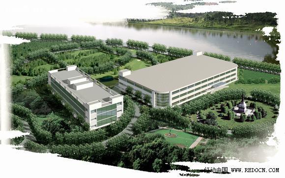 室外厂房工厂规划设计效果图