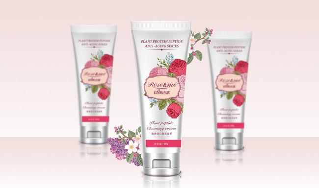 玫瑰丝蜜化妆品洗面奶包装设计.jpg