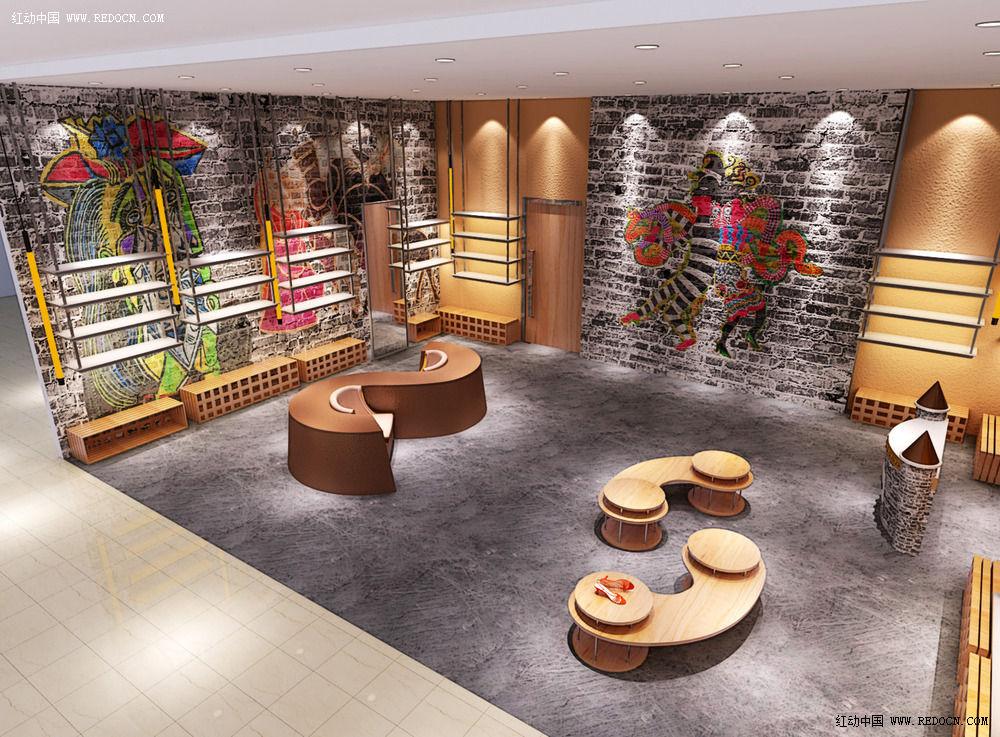 空间设计效果图_卖场|展厅|陈列