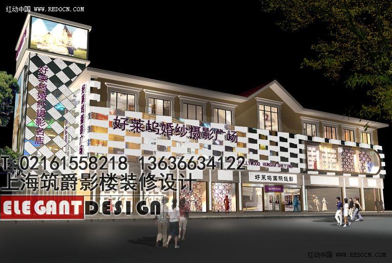 影楼门头装修设计,上海影楼装潢设计公司