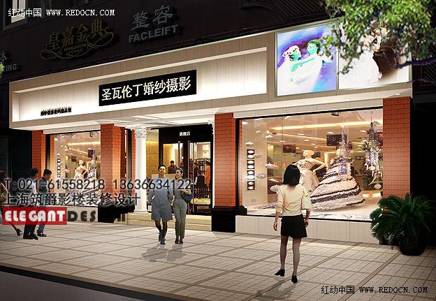 影樓門頭裝修設計,上海影樓裝潢設計公司