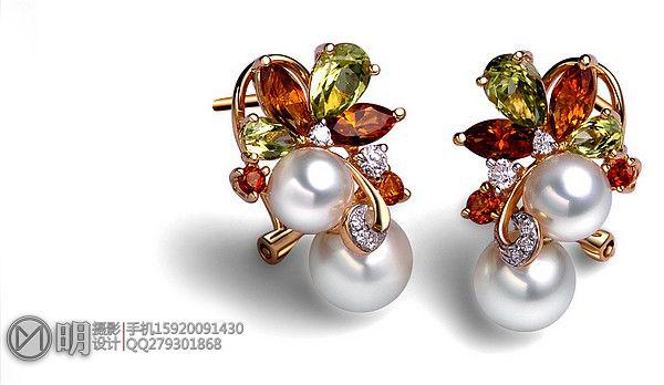 银镶珍珠(白色.金色)珠宝摄影-1.jpg