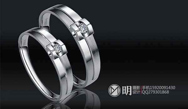 18K镶钻石情侣对戒珠宝摄影-1.jpg