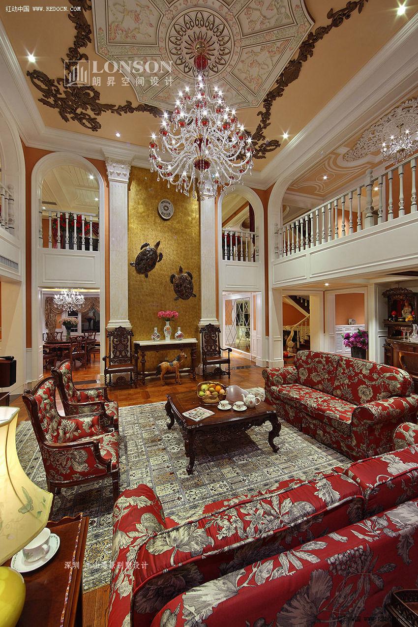 图四:深圳半山海景别墅客厅设计