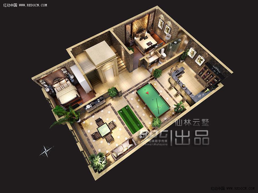 三维家配图——柏境公司优秀效果图欣赏_室内设计