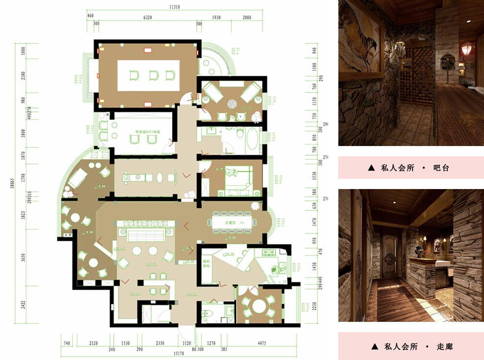 郑州私人会所设计,小区内私人会所设计作品