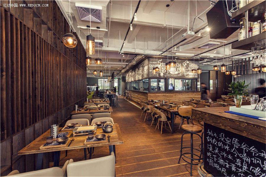 中岛餐饮店铺设计