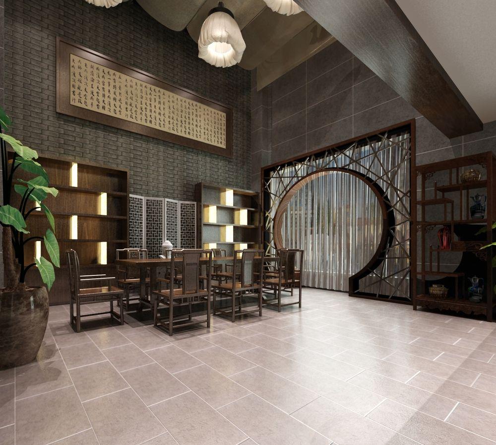 郑州·宝龙广场中式茶餐厅_室内设计_空间/建筑_原创