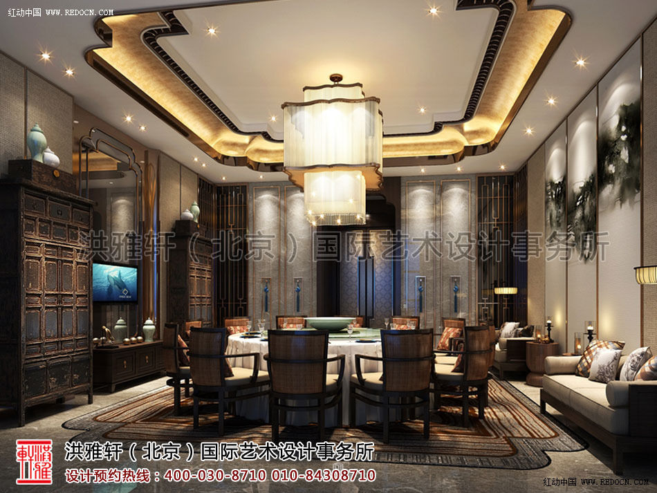 酒店餐厅新中式装修风格