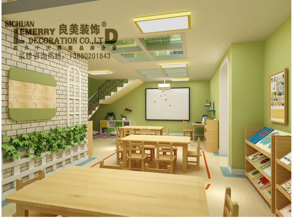成都早教装修设计公司 最好早教中心装修设计规划高清图片