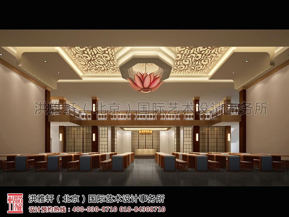 """中式禅堂设计空间,深蕴禅宗以""""静""""为主的空间美学."""