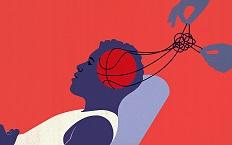 体育杂志运动插画