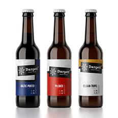 Dargett工艺啤酒系列瓶贴设计欣赏