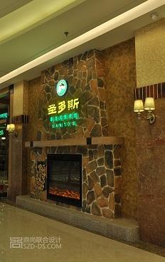 海南圣多斯现代美式风格-烤肉连锁餐厅设计(海口吾悦店)