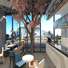 45°肉饼-中昂时代广场店_快餐厅设计_餐厅设计