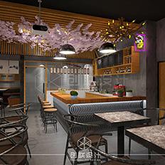 海珠区卤味店---loft风格设计案例