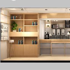 奶茶店效果图、水吧效果图、连锁品牌形象设计