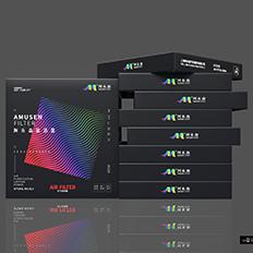 空气滤清器包装盒设计-悟杰品牌视觉设计