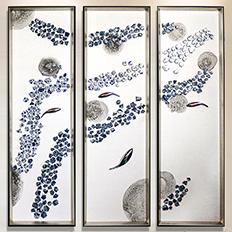 陶瓷实物画——新中式实物装饰画图片素材